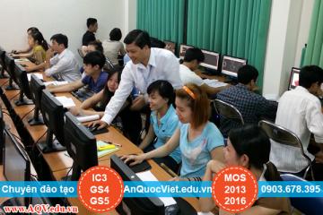CHIÊU SINH CÁC LỚP THVP QUỐC TẾ MOS 2013, 2016- IC3-GS4