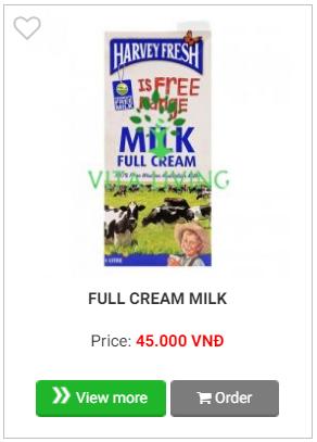 Harvey fresh milk fullcream